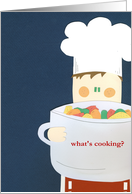 what's cooking? card