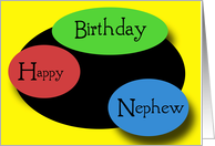 Happy Birthday Nephew card