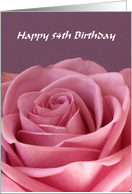 54th Birthday Card -- Rose card
