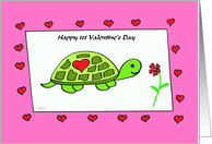 1st Valentine Turtle card