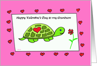 Grandson Valentine -- Turtle Love for my Grandson card