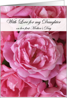 Daughter's First Mother's Day Pink Rose card