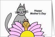 Mothers Day Card from Cat (Purrfect) card