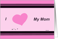 I love my mom card from cat card