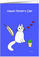 Fathers Day Card from Cat -- The Cat's Meow card