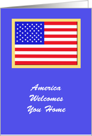 Thank You Military Card -- America Welcomes You Home card