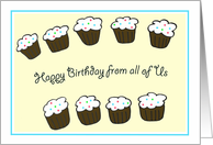 Group Birthday Card -- Cupcakes card