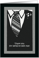 Best Man Thank You Card -- Best Man Attire card