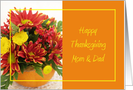 Thanksgiving Flowers for Mom and Dad card