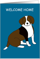Welcome Home - Beagle card