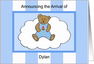 Dylan Boy Announcement card