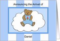 Daniel Boy Announcement card