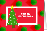 Christmas Secretary Card
