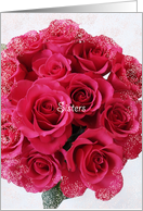 Sister Maid of Honor Card -- Rose Bouquet card