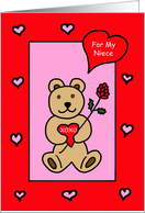 Valentine For Niece -- Teddy Bear Valentine card