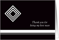 Diamond Best Man Thank You Card