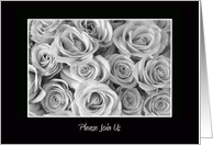 Wedding Rehearsal Invitation -- Roses card