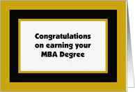 MBA Degree -- College Graduation Card