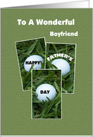 Boyfriend Happy Father's Day -- Golf Balls card