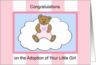 Adoption Greeting Card -- Baby Girl card