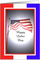 American Flag Labor Day Card