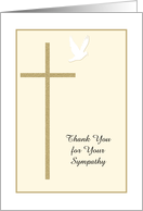 Christian Funeral Thank You Card -- Cross and Dove card