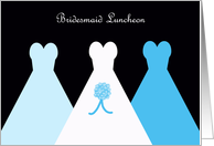 Blue Bridesmaid Luncheon Invitation card