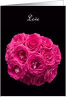 Hot Pink Roses Vow Renewal Invitation card