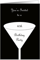 40th Birthday Party Invitation -- A Toast for Your 40th Birthday card