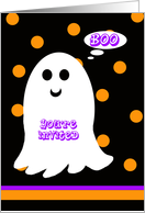 Kids Halloween Birthday Party Invitation -- BOO card