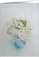 Wedding Congratulations Card -- White flowers card