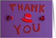 Red Hat Thank You card