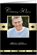 50th Birthday Party Photo Card Invitation -- Celebrating 50 years card
