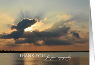 Sympathy Thank You Card -- Sunset card