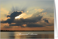 Memorial Service Invitation -- Gorgeous Sunset card