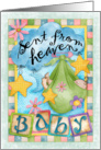 Baby Sent From Heaven Card