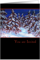 Snowy forest Christmas Invitation Card