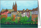 Colours of Basel, Switzerland Happy Birthday card