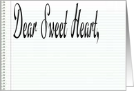 Dear Sweet Heart card