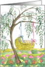 Willow Cradle - Congratulations Expectant Parents card