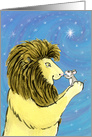 Lion & Mouse Friends, Christmas card