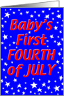 Baby's 1st July 4th Stars card