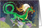 Starry Night Dragon New Year from Afar card
