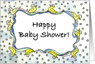 Duckie Baby Shower card