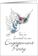 2 Doves - Engagement invite card