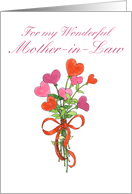 Mom-in-Law Valentine Bouquet card