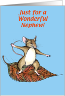 Thanksgiving Mouse, Nephew card