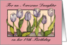 Purple Tulips, Daughter 18 Birthday card