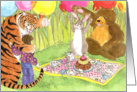 Foster Child Encouragement Animal Picnic card