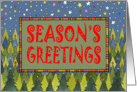Pine Forest Season's Greetings card